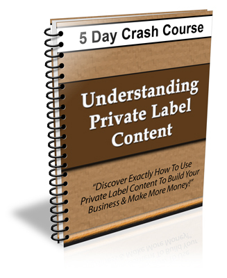 Product picture Understanding Private Label Content Crash Course with PLR
