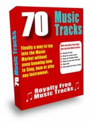 Product picture  70 Royalty Free Music Tracks with PLR license